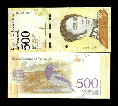 VENEZUELA 200 or 500 BOLIVARES NEW 2018-2019 SOBERANOS UNC BIRD ANIMAL BANK NOTE