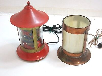 Lot Of 2 Vintage Origional Revolite Motion Lamps Both Work - Parts Only