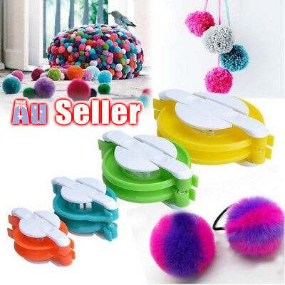 4 Sizes Weaver Needle Craft DIY Wool Tool Ball Pompom Maker Knitting Loom