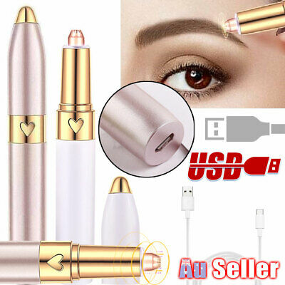 Women USB Charge Facial Hair Touch Painless Epilator Shaver Remover Finishing