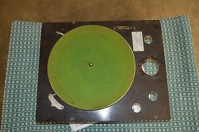 Early Crank Wind Up Kimberly Phonograph Record Player Motor & Turntable