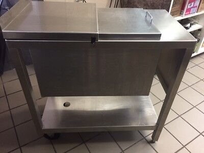 Stainless Steel Ice Holding Bin - Good Condition -Reduced price!