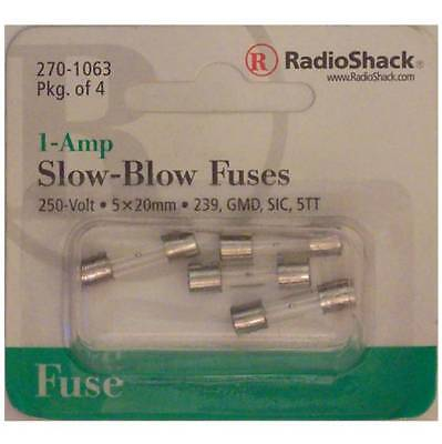 Slow-Blow 1-Amp 250 Volt 239 GMD SIC 5TT Glass Fuses 5x20mm 1A 250V 4/PK