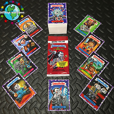 Purple/jelly Garbage Pail Kids Oh The Horror-Ible Complete 200-Card Set 2018