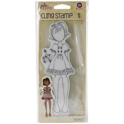 Prima Marketing Julie Nutting Mixed Media Cling Rubber Stamps -kiera, 2.25-inch