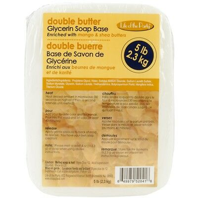 Soap Base 5 Pounds Dbl Butter - Glycerin Lbdouble