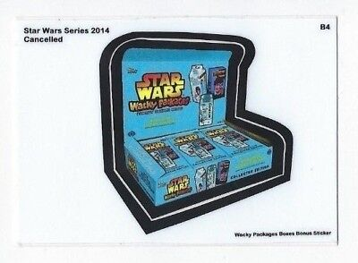 2018 Lost Wacky Packages Boxes Series Bonus Sticker B4 STAR WARS 2014 SERIES nm+