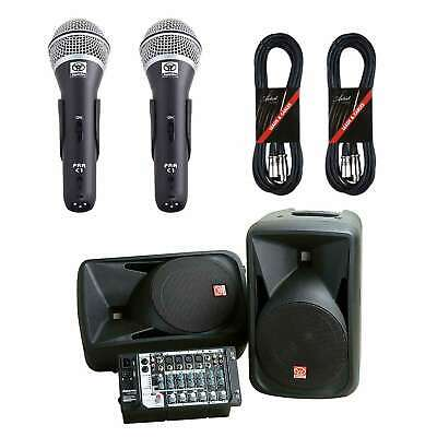 Superlux SP108 300W Compact Portable PA System + 2 Mics and Cables - New