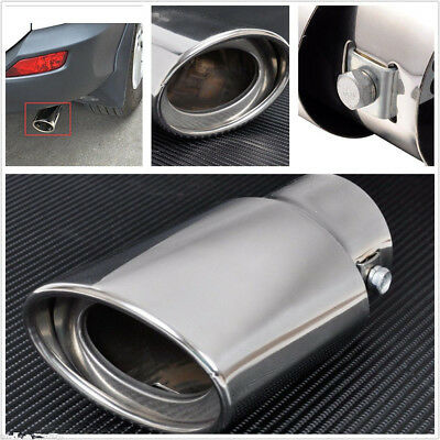 Silver Chrome Car SUV Truck Tail Throat Pipe Exhaust Pipe Trim Tips Muffler Pipe