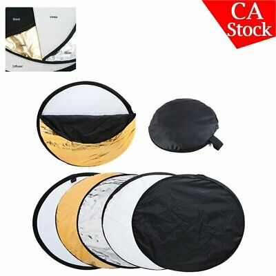 """43"""" 110cm 5 in 1 Hand Photography Studio Photo Disc Collapsible Light Reflector"""