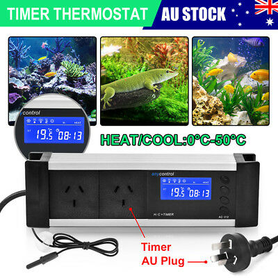 Dimming LED Reptile Snake Digital Day & Night Thermostat Aquarium Timmer Control