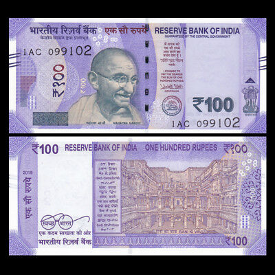 India 100 Rupee, 2018, P-NEW, NEW Issue, UNC