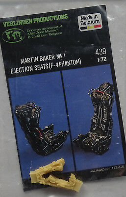 VERLINDEN PRODUCTIONS #439 M.B. Mk.7 Ejection Seats for F-4 Phantom in 1:72