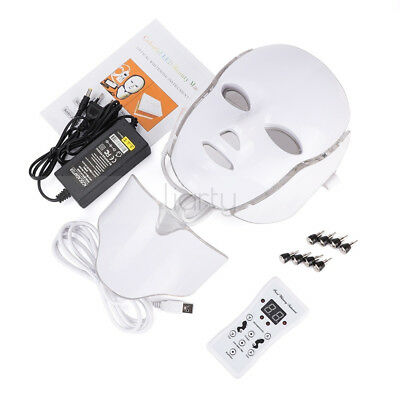 7 Colors LED Light Photon Face Neck Mask Rejuvenation Skin Therapy Anti Wrinkles