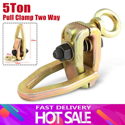 Durable 2Way 5 Ton Self-tightening Grip Frame Body Repair Pull Clamp Puller Dent