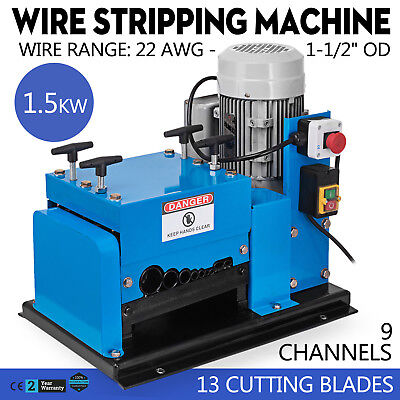 New Wire Stripping Machine 1.5KW 110V Cable Copper Stripper Recycler Scrap