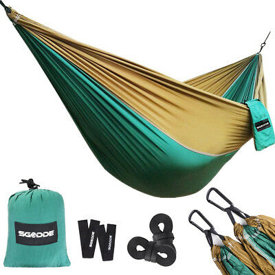 SGODDE Breathable Lightweight Portable Camping Hammock Travel Backpackers Hiking
