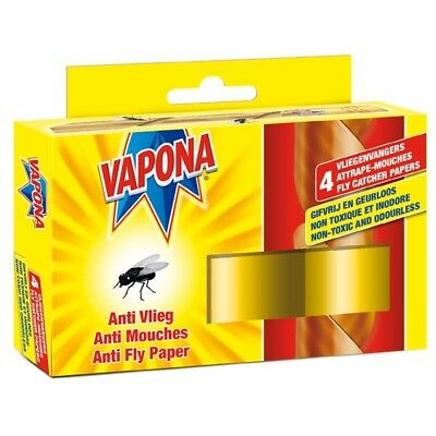 Vapona Anti Fly Papers-Flies Flying Insects Sticky Strips intect catch