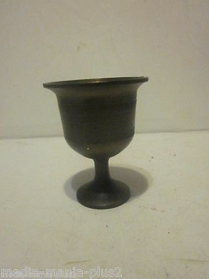 "Vintage Solid Bronze Or Brass Miniature Wine Goblet 2-1/2"" Tall"