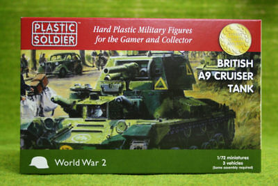 Plastic Soldier Company WW2 BRITISH A9 CRUISER TANK 1/72nd scale 20mm