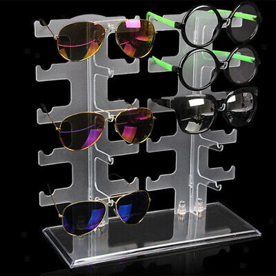 Clear Sunglasses Holder Rack Glasses Show Display Stand Tabletop Organizer