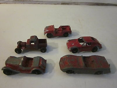 Press Red Cars Miniature Tootsie Metal Vintage 5 Toys qAj4L35R