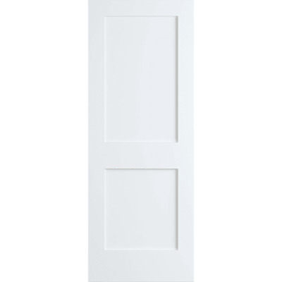 Frameport SHK-PD-F2P-6-2/3X2-2/3 Shaker 32 Inch by 80 Inch Flat 2 Panel Interior