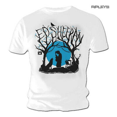 Official T Shirt ED SHEERAN Divide White 'Woodland Gig' All Sizes