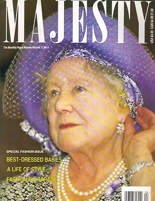 QUEEN MOTHER UK Majesty Magazine 4/90 Vol 11 No 4 SPECIAL FASHION ISSUE