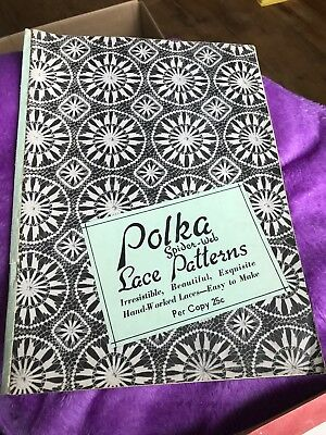 Rare Vintage 1941 Polka Spider-Web Lace Patterns Softcover Book