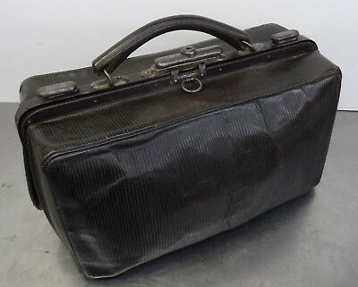 Antike Hebamme Koffertasche Koffer Arzt Leder Tasche - antique doctor's bag