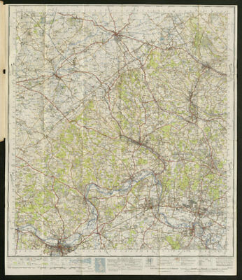 Chilterns Sheet 159 Thames Valley Aylesbury Reading ORDNANCE SURVEY 1945 map