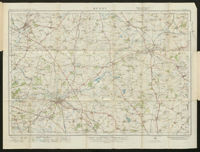 Rugby Sheet 73 Market Harborough Hinckley ORDNANCE SURVEY 1920 old vintage map