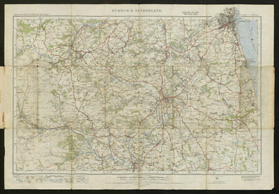 Durham & Sunderland Sheet 11 River Wear valley Stanhope ORDNANCE SURVEY 1925 map