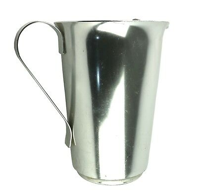 Vintage Color Craft Silver Aluminum Water Pitcher with Ice Lip 1940s 1950s