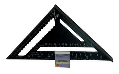 """12"""" Heavy Duty Aluminium Speed Square Measuring Tool Roofing Triangle Joinery"""