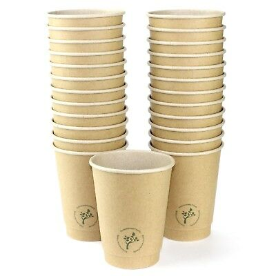 Double Wall Kraft Paper Coffee Cups Pack Of 25 Party Catering Meeting Supplies