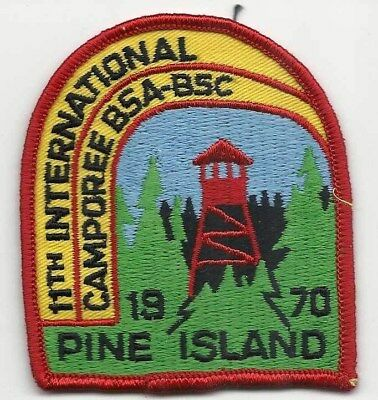 BSA Scouts Canada 11 International Camporee 1970 Camp Pine Island  patch