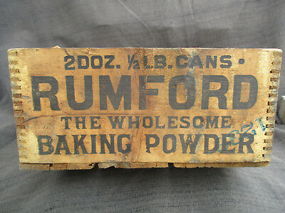 ANTIQUE VINTAGE 1920s-1930s RUMFORD BAKING POWDER WOOD SHIPPING CRATE