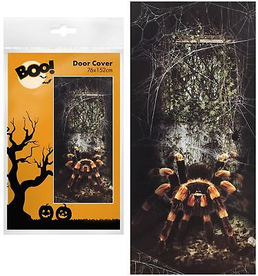 Halloween 152cm Scary Creepy Spider Door Cover Decoration Prop Party Poster