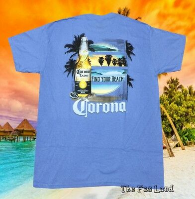 New  Corona Extra Bottle Palm Beach 2 Sides Beer Mens Classic Vintage T-Shirt
