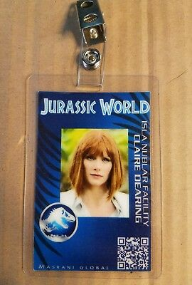 Jurassic World ID Badge - Claire Dearing costume prop cosplay jurassic park
