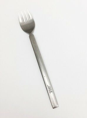 JAL Japan Airlines First Class Food Service FORK 18-8 Stainless Martian 6 3/4""