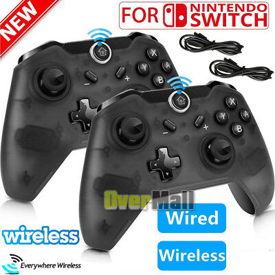 2x 1x Wireless Pro Controller Gamepad Joypad Remote For Nintendo Switch Console