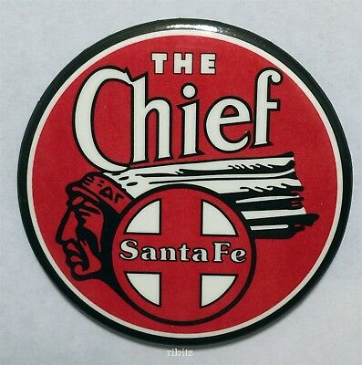 ATSF Santa Fee THE CHIEF red white and black design magnet