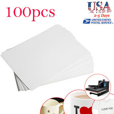 A4 Dye Sublimation Heat Transfer Paper F Mug Plate Polyester Cotton T-Shirt *100