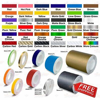 Roll PIN STRIPE PinStriping Trim Self Adhesive Line TAPE Car Decal Vinyl Sticker