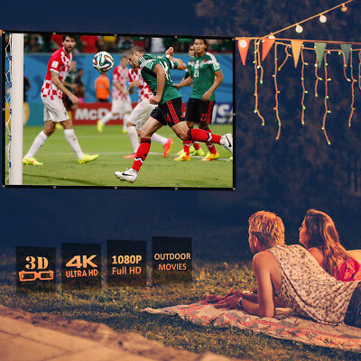 16:9 Projector Projection Screen 100 Inch Home Cinema Theater Outdoor Foldable