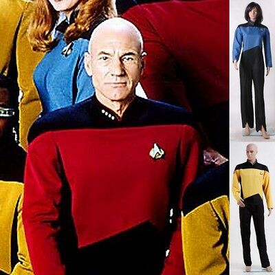Star Trek Overall-Uniform mit drei Farben TNG Cosplay Kostüm Halloween Party