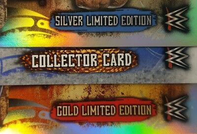 topps SLAM ATTAX LIVE Limited Edition Card SINGLES Gold - SILVER LE .... 2018